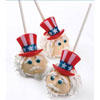 Puffy Patriotic Hat Cupcake Rings Decorations, Set of 12