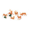 Deer Family Mini Cupcake Picks, Set of 6