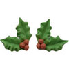 Icing Holly with Berries, Set  of 4, LIMITED QUANTITY