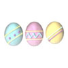 Icing Easter Egg Large Pastel, Set of 12