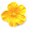 Icing Hibiscus Flower Yellow, Set of 6