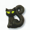 Icing Halloween Black Cat, Set of 8