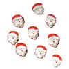 Icing Mini Santa Head, Set of 9