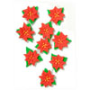 Icing Mini Poinsettia, Set of 9