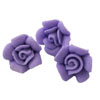 Icing Tiny Rose  Lavender, Set of 10