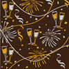 New Year Pattern Chocolate Transfer Sheet