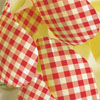 SALE!  Red Gingham Chocolate Transfer Sheet