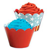 Reversible Cupcake Wrapper Patriotic
