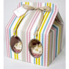 Pink Stripe Cupcake Boxes Large, Set of 3