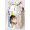 Pink Stripe Cupcake Boxes Small, Set of 4