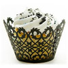 Cupcake Wrapper Filigree Black