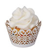 Cupcake Wrapper MINI Filigree White