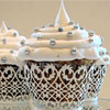 Cupcake Wrapper Filigree White