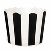 Muffin Cup Scalloped Stripe Black, Pkg of 25