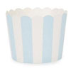Muffin Cup Scalloped Stripe Powder Blue, Pkg of 25