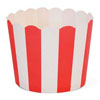 Muffin Cup Scalloped Stripe Red, Pkg of 25