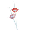 Retro Lips Straws, Set of 12