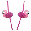 Retro Pink Flamingo Straws, Set of 12