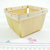 Berry Basket , 1 Pint Natural Wood