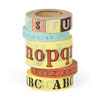 Cavallini Alphabet Decorative Tape, 5 Assorted Rolls