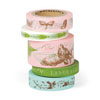 Cavallini Flora & Fauna Decorative Tape, 5 Assorted rolls