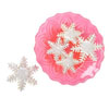 Cookie Cutter Snowflake Plunger Set of 3