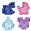 Cookie Stamp & Cutter Baby Theme, Set of 4