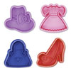 Cookie Stamp & Cutter Fashion Theme, Set of 4