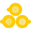Celtic Medallions Cookie or Cupcake Stencil, Set of 3
