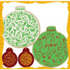 Filigree Christmas Ornament Cookie or  Cupcake Stencil