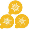 Crystal Snowflake Cookie or Cupcake Stencil, Set of 3