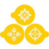 Four Point Medallions Cookie Stencils, Set of 3
