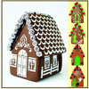 Gingerbread House Stencil , Set of  9 for all Seasons