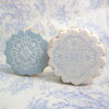 Victorian Crochet Cookie Stencil,  Set of 2