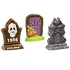 Creepy Tombstones Candy Mold, 3 Cavity