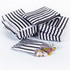 Black Vintage Striped Candy Bags, Set of 10