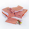 Red Vintage Striped Candy Bags, Set of 10