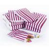 Purple Vintage Striped Candy Bags, Set of 10