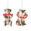 Vintage Circus Dog Ornaments, Set of 2