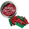 Cavallini Can O Clips for the Holidays, Set of 24