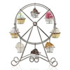 Brushed Nickel Ferris Wheel Cupcake Holder
