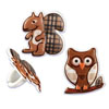Squirrel & Owl Cupcake Rings, Set of 12