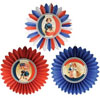 Americana Tissue Paper Rosettes, Set of 3